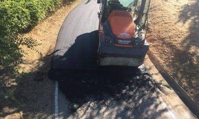 asfaltado de la pista de ciclismo del parque de la Dehesa Boyal de Parla
