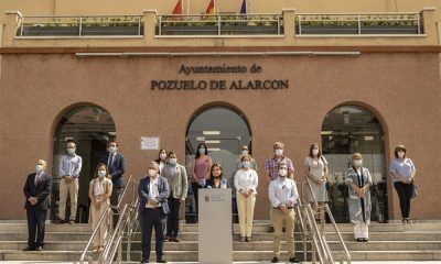 minuto de silencio en el Ayuntamiento de Pozuelo