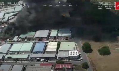 incendio en una nave industrial que almacena pintura en Paracuellos