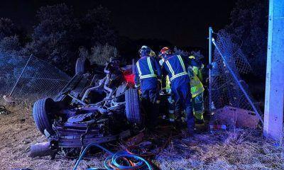 accidente en la M-509 en Valdemorillo