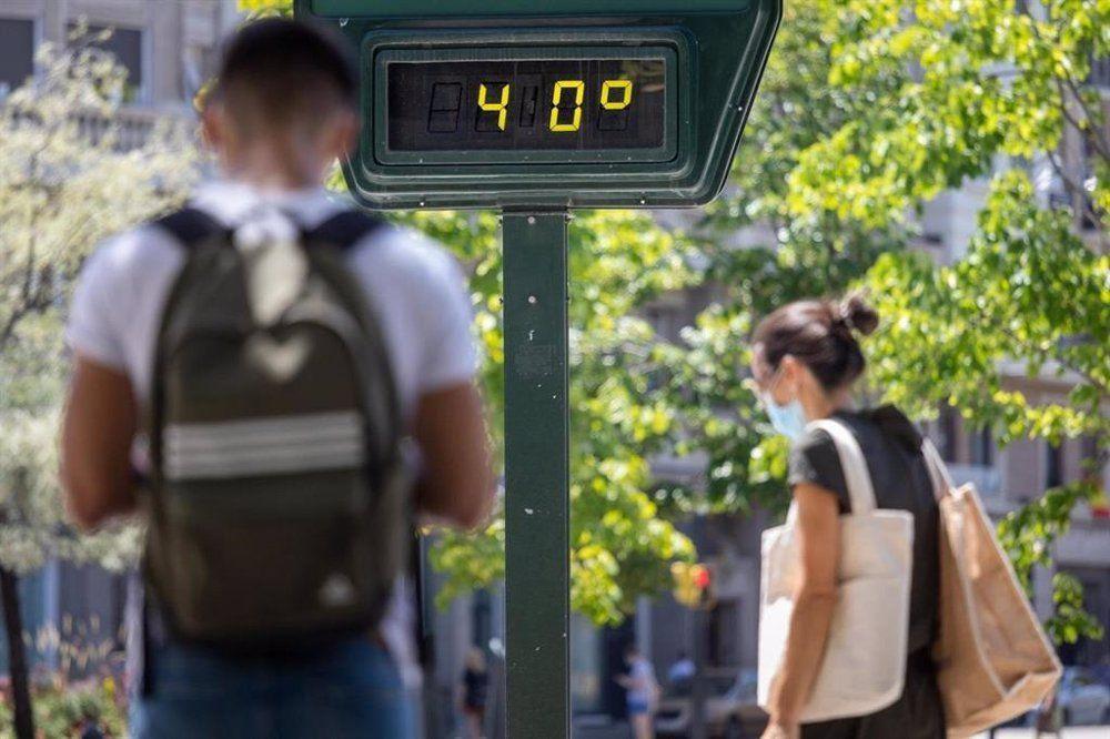 Las temperaturas máximas pueden llegar en Madrid a 41ºC el sábado