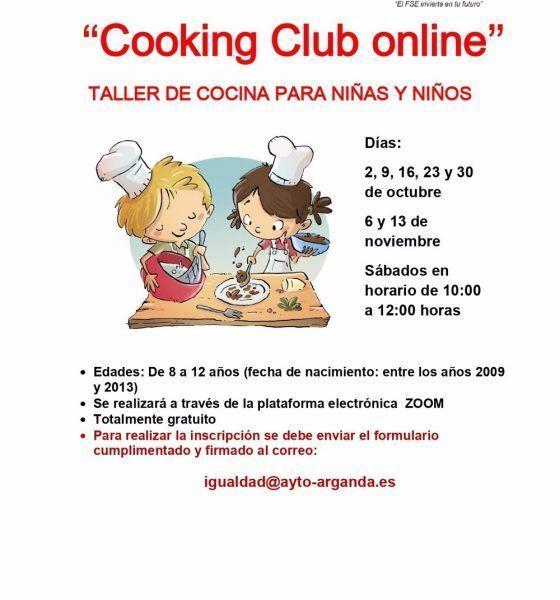 Arganda taller de cocina virtual