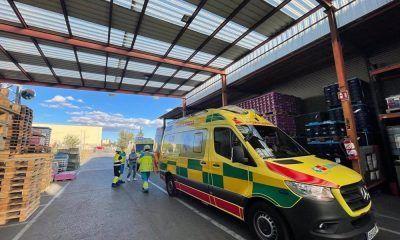 trabajador herido palé Fuenlabrada