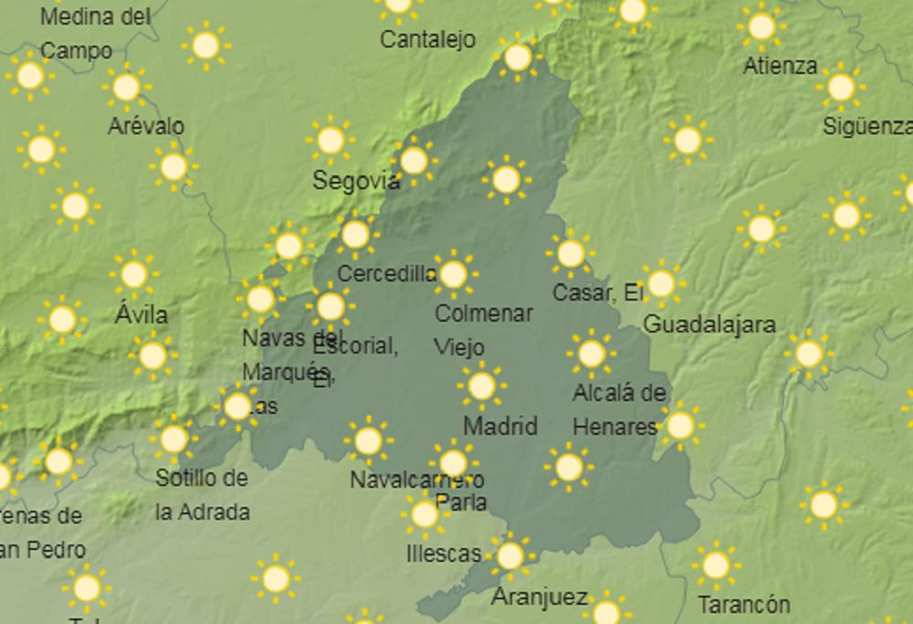 Previsión del tiempo para este miércoles 13 de octubre en Madrid
