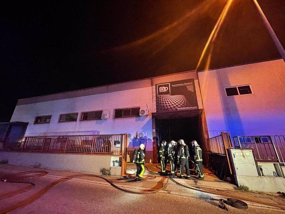 incendio nave industrial Ciempozuelos