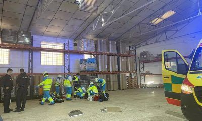 accidente tejado nave industrial de Fuenlabrada