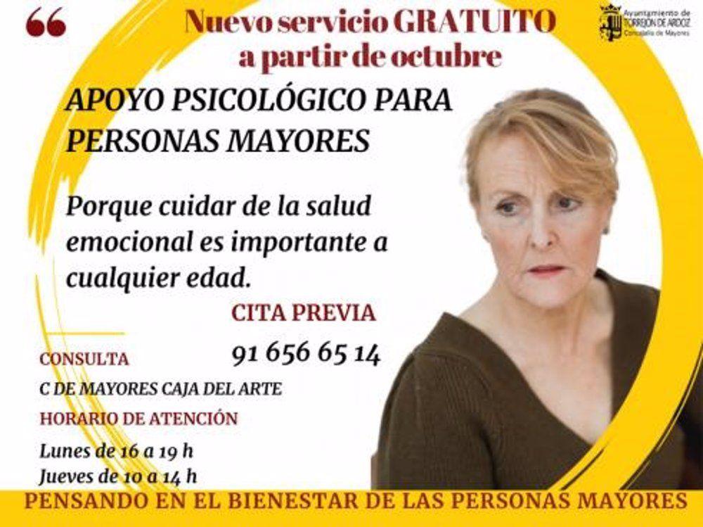 Torrejón apoyo psicológico mayores